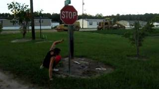 Rahjah running into a stop sign very funny