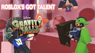 Gravity falls theme on the piano - Roblox's Got Talent