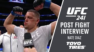 "UFC 241: Nate Diaz - ""I Could See Everything He Was Throwing"""