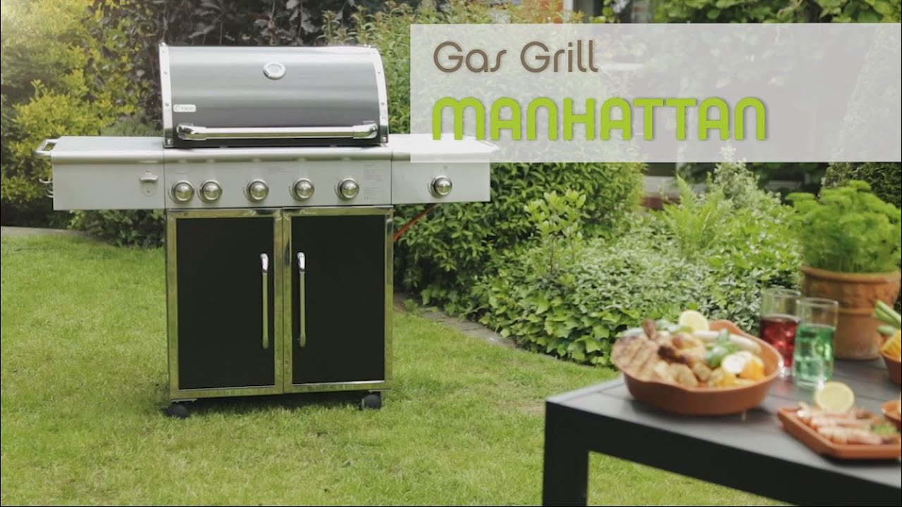 tepro gas grill manhattan - youtube