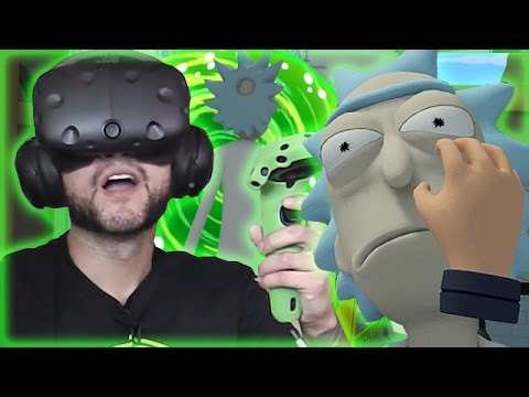 CLONE MORTY - RICK AND MORTY VR Virtual Rick-ality HTC VIVE Part 1
