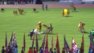 2016年10月1日、いわて国体開会式 北上市総合運動公園陸上競技場にて式...