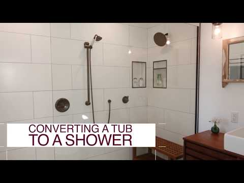 How to Convert a Tub Into a Shower - DIY Network