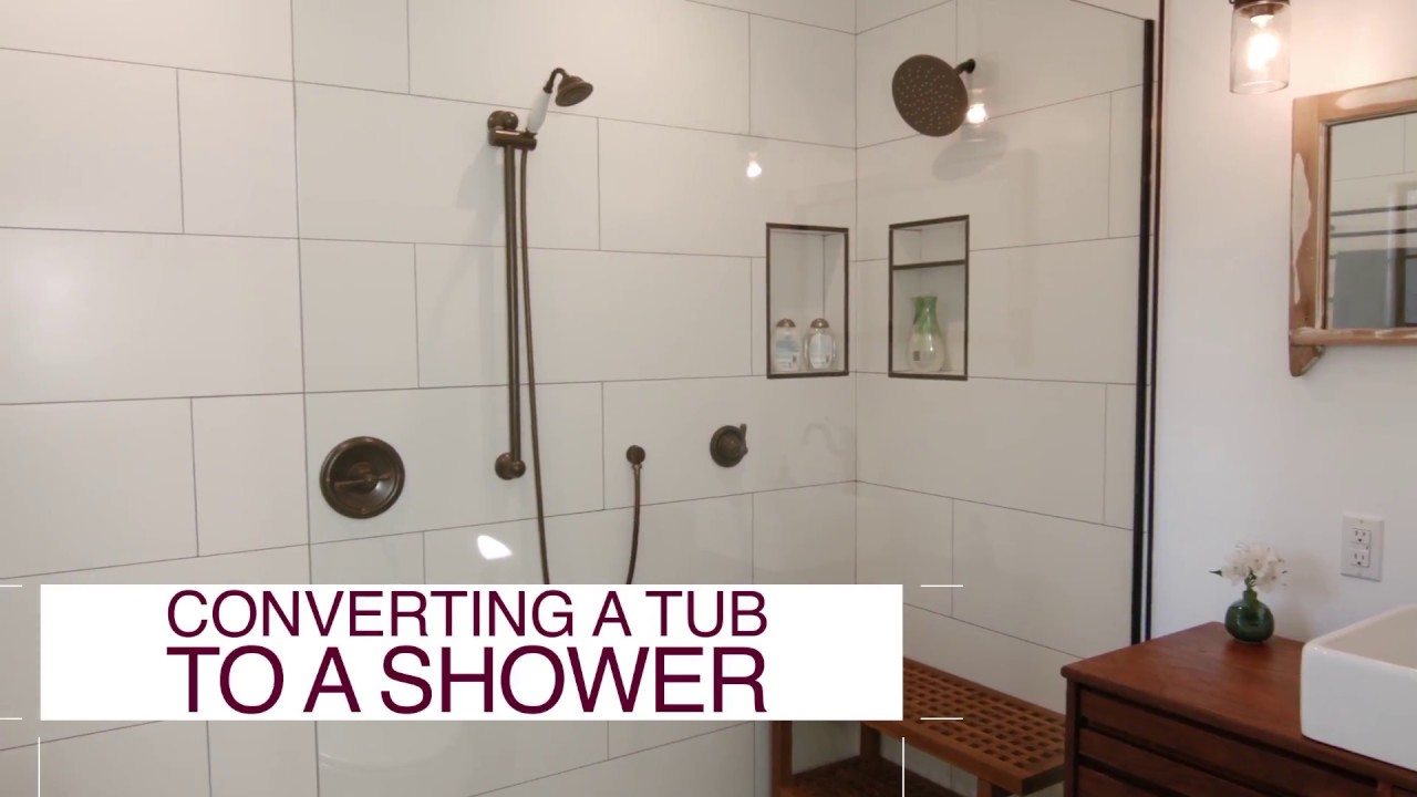 Delicieux How To Convert A Tub Into A Shower   DIY Network