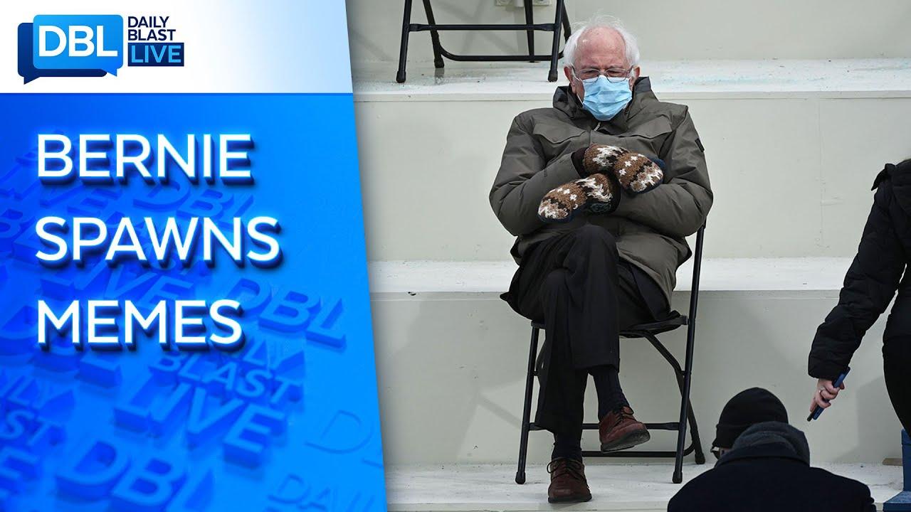Internet Goes Wild With Memes Of Bernie Sanders At Biden Inauguration Youtube