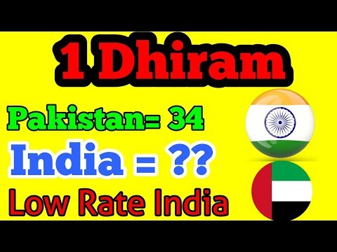 Indian Currency Low Rate against Dhiram