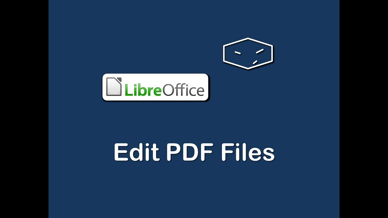 Edit Pdf Files With Libreoffice Youtube