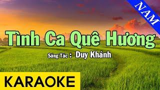 Karaoke Tình Ca Quê Hương Tone Nam Nhạc Sống - Beat Chuẩn