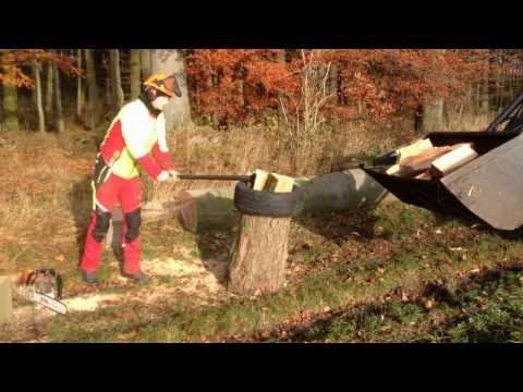 Fiskars X27 - Holz spalten auf die schnelle und einfache Art - Wood spliting easy
