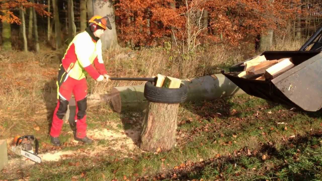 Fiskars X27 Holz Spalten Auf Die Schnelle Und Einfache Art Wood