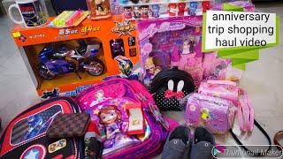 Anniversary trip shopping haul video