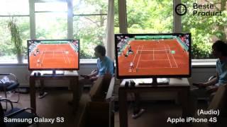 Samsung Galaxy S3 vs. iPhone 4S test video
