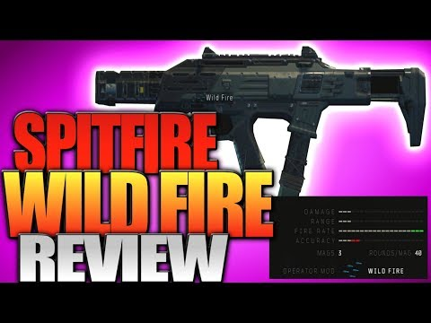 "Black Ops 4: Spitfire Wild Fire Review - The Fastest Firing Gun In BO4 (""Wild Fire"" Operator Mod)"