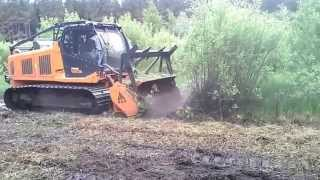 PrimeTech PT-300 forest mover, mulcher with Prime Tech PT300 FAE wood cutter from www.ferrus.lv