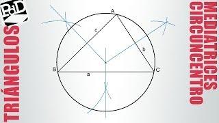 Circuncentro de un triángulo (mediatrices).