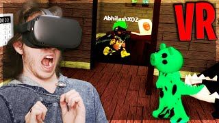 Playing PIGGY in VR... (Roblox VR)