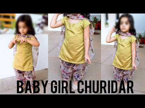 Baby Girl Churidar Stitching Tutorial - Stitching Video