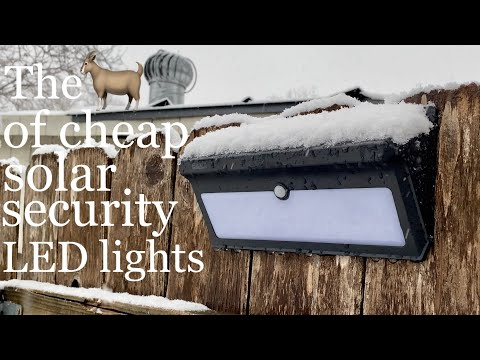 BAXIA solar motion sensor security LED lights review