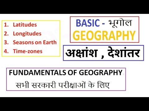 Basic Geography - Latitudes, Longitudes, Time Zones and Solstice