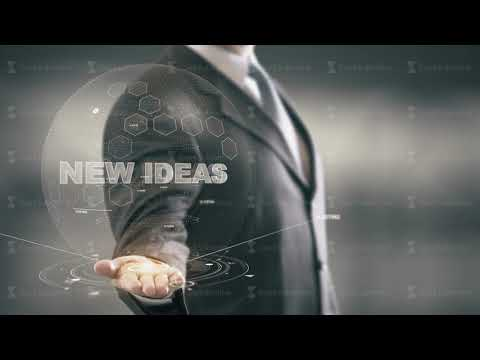New Ideas Businessman Holding in Hand New technologies