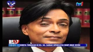 KERETA TERBAKAR DI KG SG SAMAK DIPERCAYAI MIRIP KEVIN [6 SEPT 2015]