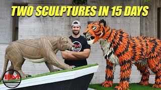 Start to Finish: 2 LIFE SIZE Sculptures in 15 DAYS  for the Goodyear Cotton Bowl.