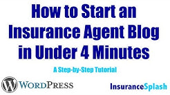 How to Start an Insurance Blog in Under 4 Minutes