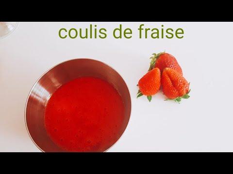 coulis-de-fraise-,purée-fraise-pour-gâteau-,verrine
