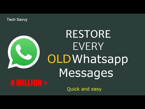 How To Restore Deleted Whatsapp Messages?  2020
