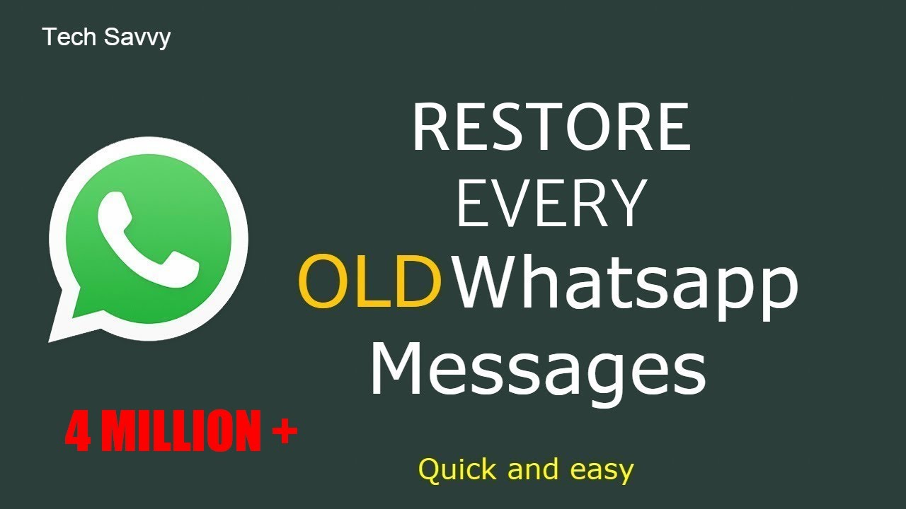 how to restore deleted whatsapp messages?  2019 Latest.