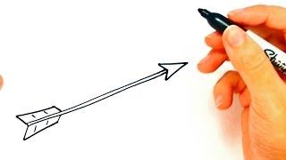 arrow drawing draw simple easy drawings una flecha dibujo dibujar paintingvalley