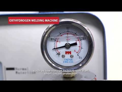 Small oxy-hydrogen energy welding machine demo