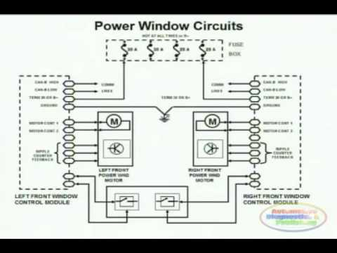 power window wiring diagram 1 youtubepower window wiring diagram 1