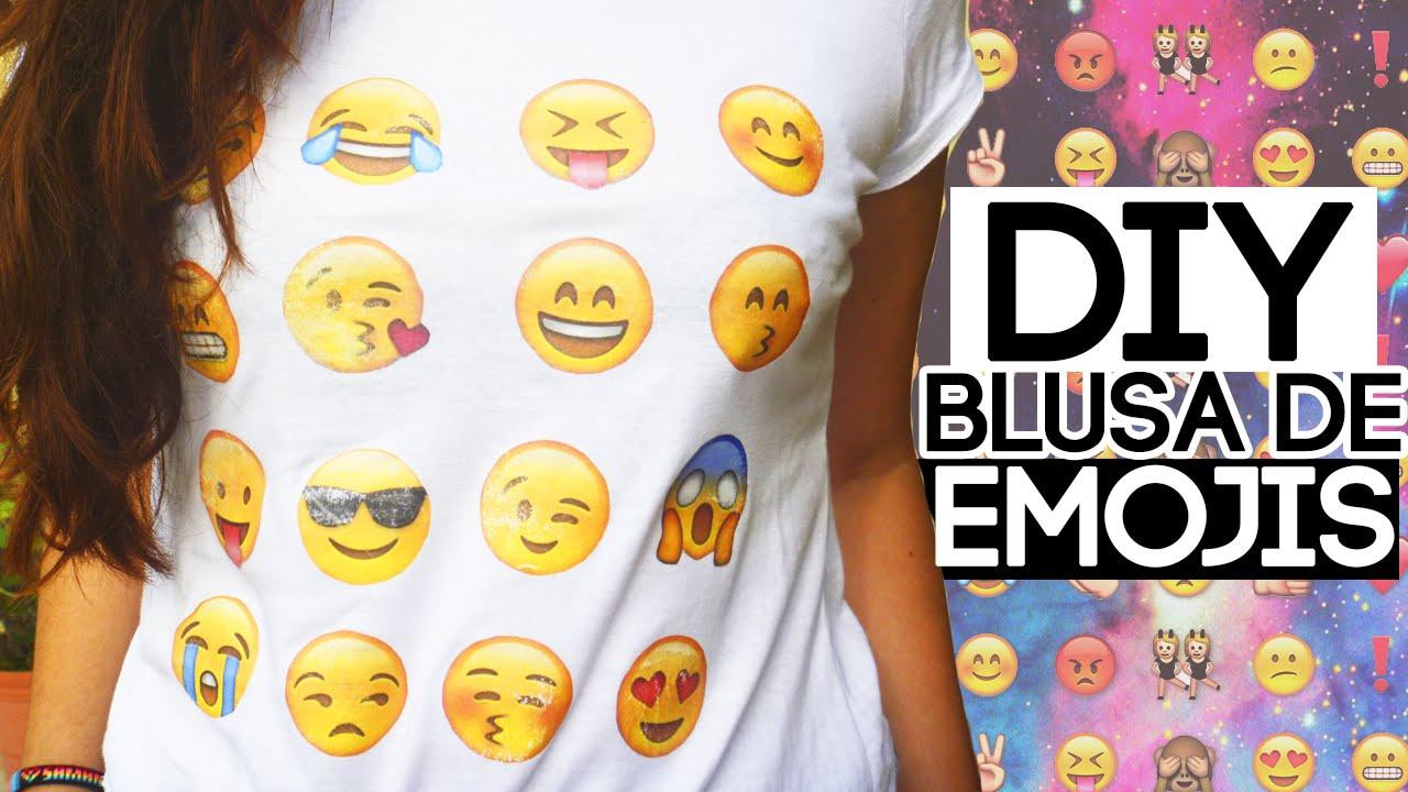 Diy camiseta t shirt de emojis youtube - Pintura para camisetas ...