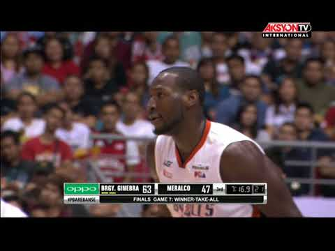PBA HIGHLIGHTS: GINEBRA VS MERALCO OCT 27, 2017