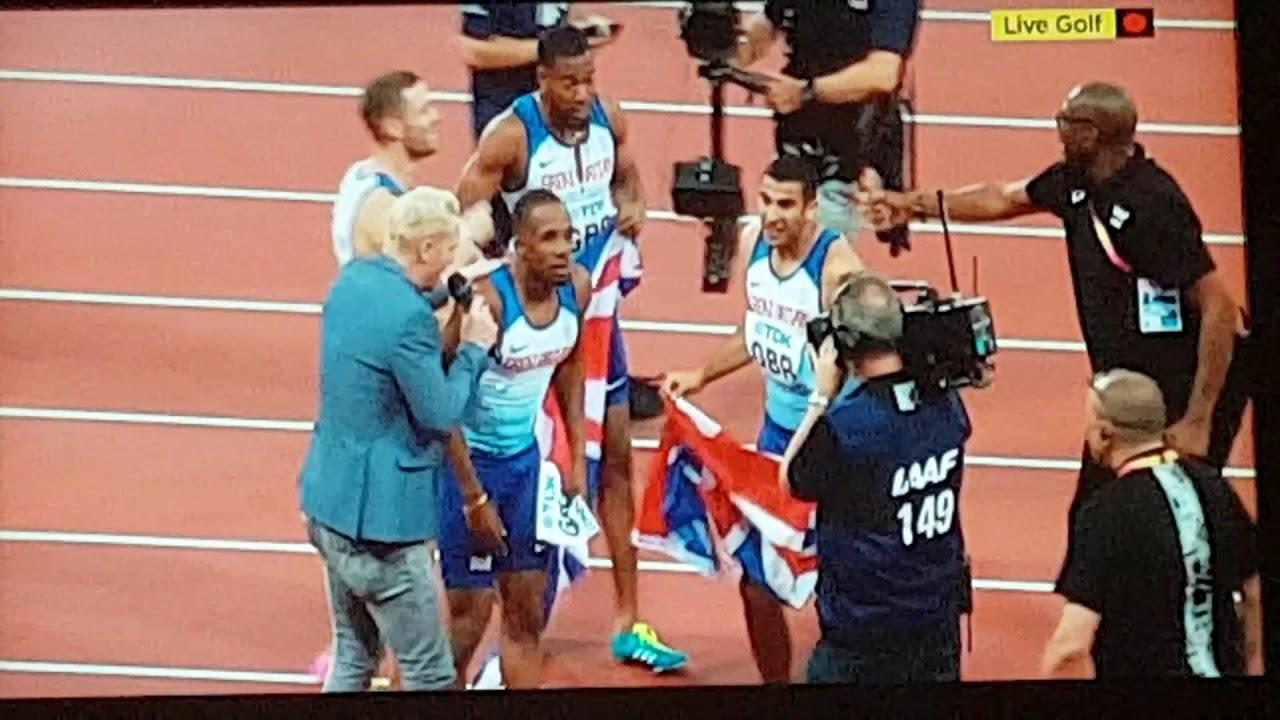 Mens 4 x 100m Relay Final. 2017 London World Championships ...