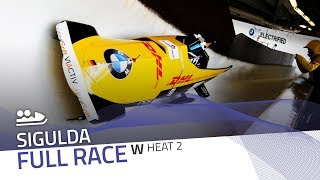 Sigulda | BMW IBSF World Cup 2019/2020 - Women's Bobsleigh Heat 2 | IBSF Official