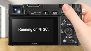 Remove / Disable Running on NTSC Warning Message on Sony Cameras
