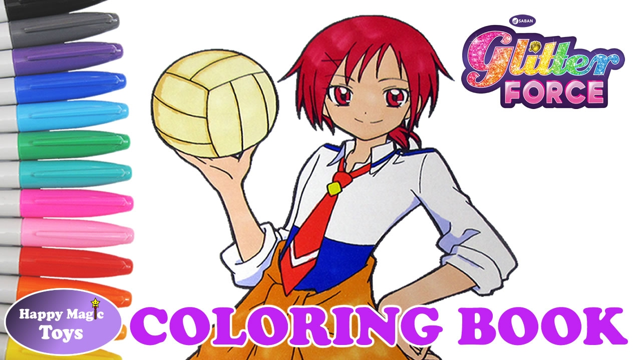 Glitter Force Coloring Book Kelsey Happy Magic Toys YouTube