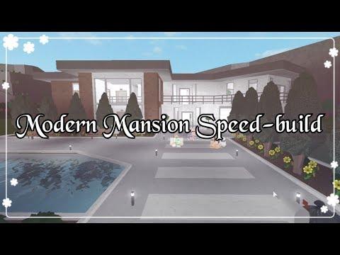 Bloxburg - Modern Mansion Speed-build