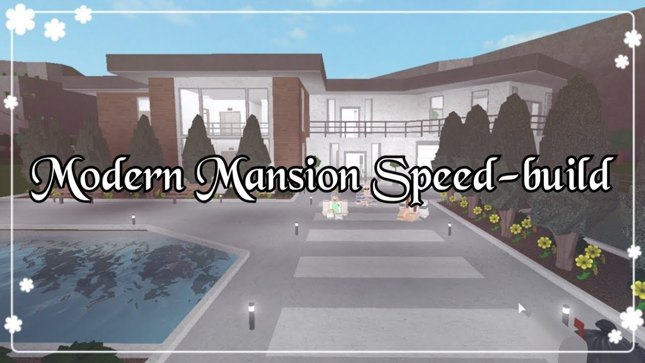 Bloxburg modern mansion speed build youtube for Build a house for 200k