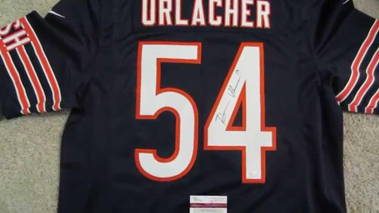 Brian Urlacher Autographed Chicago Bears Signed Nike Limited Blue Jersey  JSA COA f8ddd6f1f