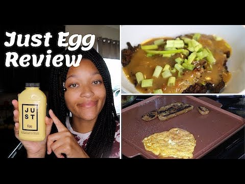 Making egg foo young with vegan Just Egg + Review