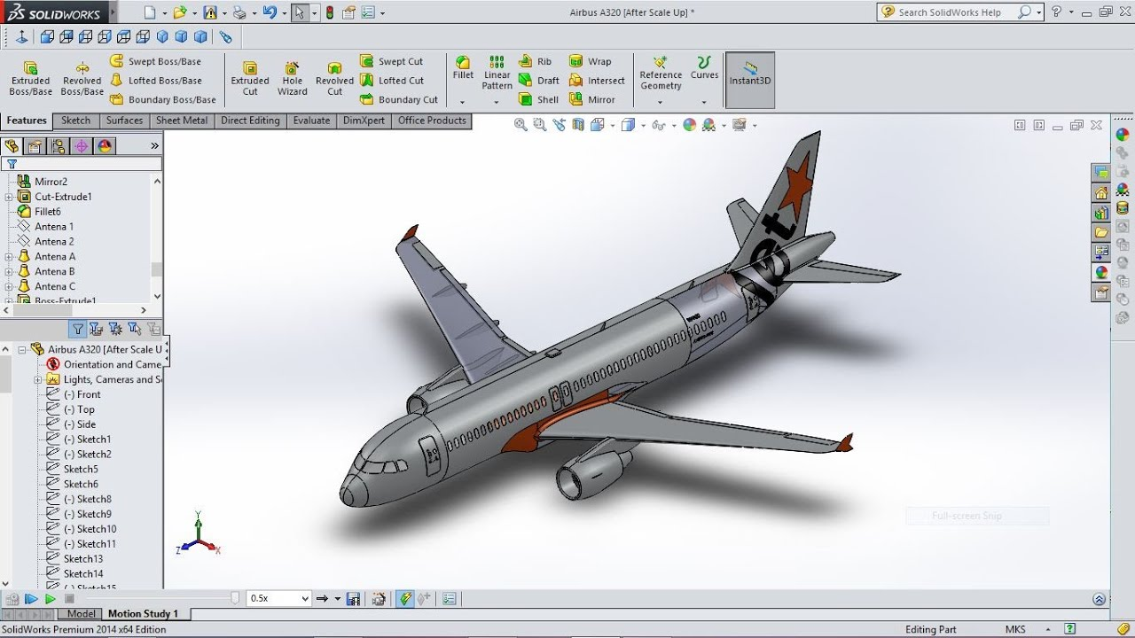 Airbus A320 3d View In Solidworks Youtube