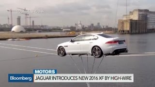 Spectacular High-Wire Introduction of Jaguar's 2016 XF