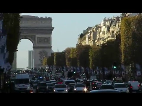 Champs Elysee e Arco do Triunfo, Paris, França