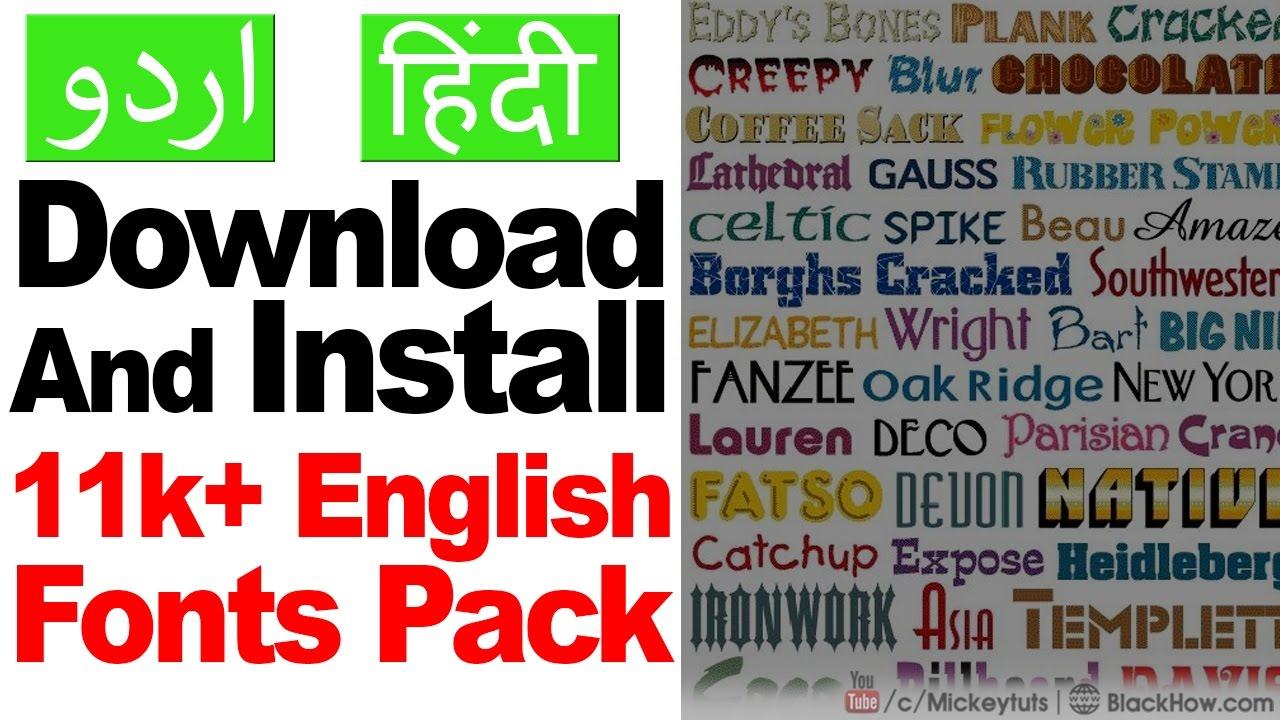 Learn How To Download And Install Super 11k English Fonts Pack