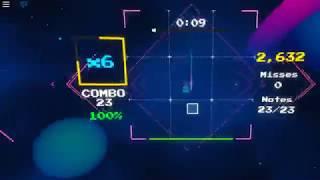 Roblox Blox Saber/Sound Space: training R6 flicking skills