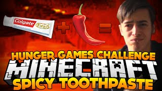 """EATING SPICY TOOTHPASTE!?"" - Challenge 95 - Hunger Games Challenge [MC]"