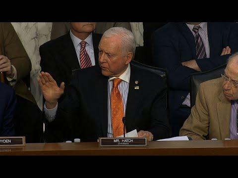 Senators Hatch, Brown Trade Barbs in Tax Debate